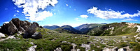 Composite Panoramic from up above Alpine Vis Center -  43 images stitched into one