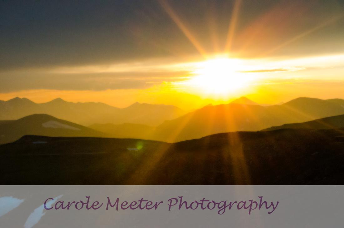 sunset at Rock Cut RMNP